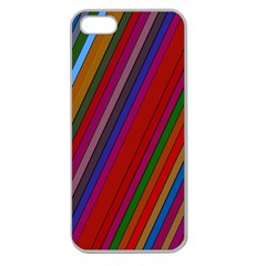 Color Stripes Pattern Apple Seamless iPhone 5 Case (Clear)