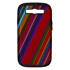 Color Stripes Pattern Samsung Galaxy S III Hardshell Case (PC+Silicone)