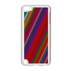 Color Stripes Pattern Apple iPod Touch 5 Case (White)