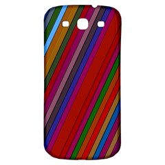 Color Stripes Pattern Samsung Galaxy S3 S III Classic Hardshell Back Case