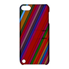 Color Stripes Pattern Apple iPod Touch 5 Hardshell Case with Stand