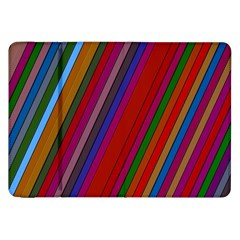 Color Stripes Pattern Samsung Galaxy Tab 8.9  P7300 Flip Case