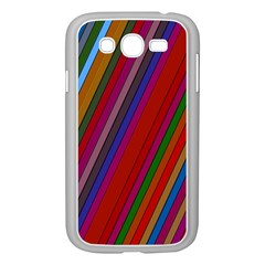 Color Stripes Pattern Samsung Galaxy Grand Duos I9082 Case (white)