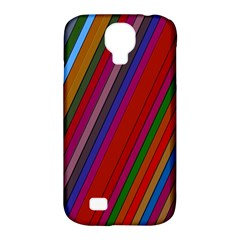 Color Stripes Pattern Samsung Galaxy S4 Classic Hardshell Case (PC+Silicone)