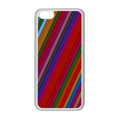 Color Stripes Pattern Apple iPhone 5C Seamless Case (White)