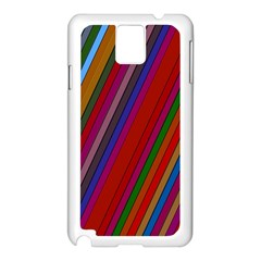 Color Stripes Pattern Samsung Galaxy Note 3 N9005 Case (White)