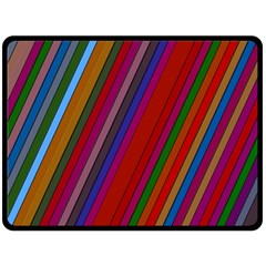 Color Stripes Pattern Double Sided Fleece Blanket (large)