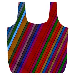 Color Stripes Pattern Full Print Recycle Bags (L)