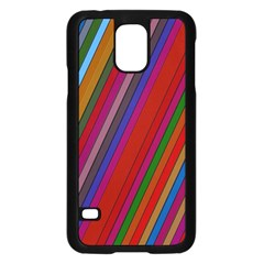 Color Stripes Pattern Samsung Galaxy S5 Case (black)