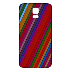 Color Stripes Pattern Samsung Galaxy S5 Back Case (White)