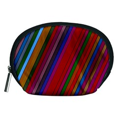 Color Stripes Pattern Accessory Pouches (Medium)