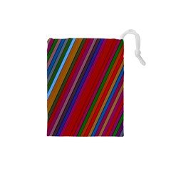 Color Stripes Pattern Drawstring Pouches (Small)