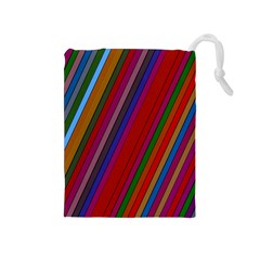Color Stripes Pattern Drawstring Pouches (Medium)