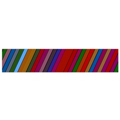 Color Stripes Pattern Flano Scarf (small)