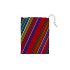 Color Stripes Pattern Drawstring Pouches (xs)