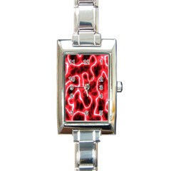Pattern Background Abstract Rectangle Italian Charm Watch