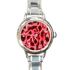 Pattern Background Abstract Round Italian Charm Watch
