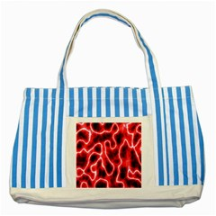 Pattern Background Abstract Striped Blue Tote Bag