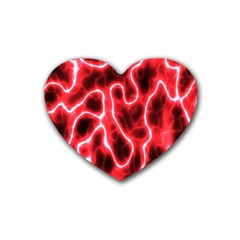Pattern Background Abstract Rubber Coaster (heart)