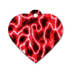 Pattern Background Abstract Dog Tag Heart (Two Sides)