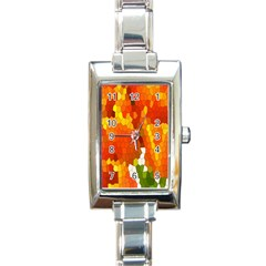 Mosaic Glass Colorful Color Rectangle Italian Charm Watch
