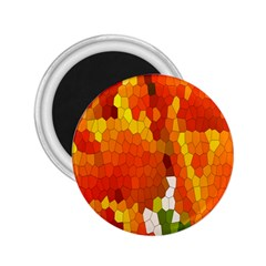 Mosaic Glass Colorful Color 2.25  Magnets