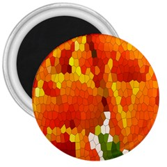 Mosaic Glass Colorful Color 3  Magnets