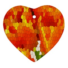 Mosaic Glass Colorful Color Ornament (Heart)