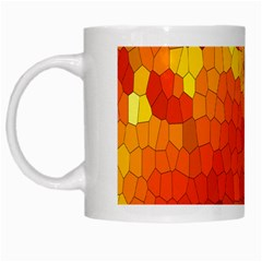 Mosaic Glass Colorful Color White Mugs