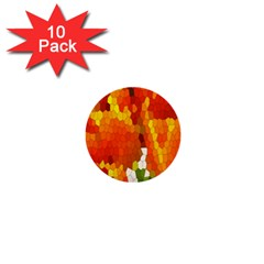 Mosaic Glass Colorful Color 1  Mini Buttons (10 Pack)