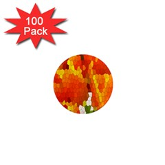 Mosaic Glass Colorful Color 1  Mini Magnets (100 pack)