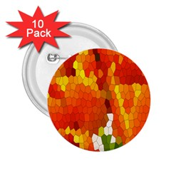 Mosaic Glass Colorful Color 2 25  Buttons (10 Pack)