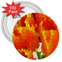 Mosaic Glass Colorful Color 3  Buttons (100 Pack)