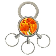 Mosaic Glass Colorful Color 3 Ring Key Chains