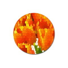 Mosaic Glass Colorful Color Magnet 3  (round)