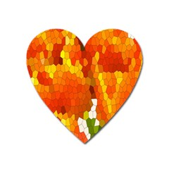 Mosaic Glass Colorful Color Heart Magnet