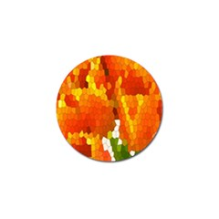Mosaic Glass Colorful Color Golf Ball Marker (4 pack)