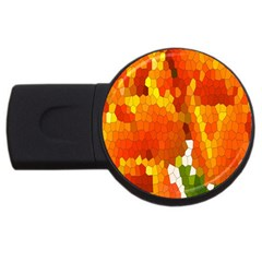 Mosaic Glass Colorful Color Usb Flash Drive Round (2 Gb)