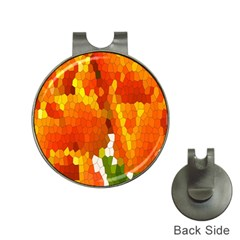 Mosaic Glass Colorful Color Hat Clips With Golf Markers