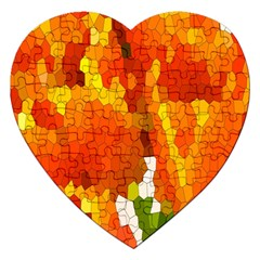 Mosaic Glass Colorful Color Jigsaw Puzzle (Heart)