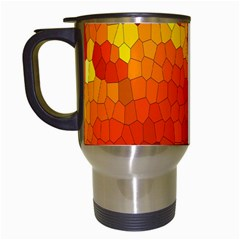Mosaic Glass Colorful Color Travel Mugs (White)