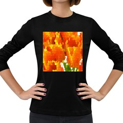 Mosaic Glass Colorful Color Women s Long Sleeve Dark T Shirts
