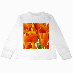 Mosaic Glass Colorful Color Kids Long Sleeve T Shirts