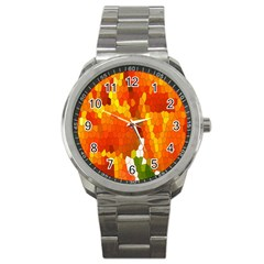 Mosaic Glass Colorful Color Sport Metal Watch