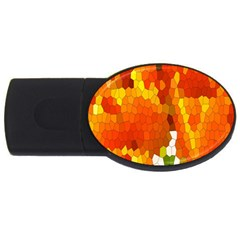 Mosaic Glass Colorful Color USB Flash Drive Oval (4 GB)