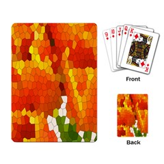 Mosaic Glass Colorful Color Playing Card