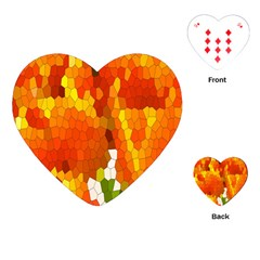 Mosaic Glass Colorful Color Playing Cards (Heart)