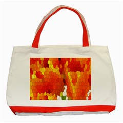 Mosaic Glass Colorful Color Classic Tote Bag (Red)