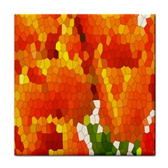 Mosaic Glass Colorful Color Face Towel