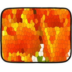 Mosaic Glass Colorful Color Fleece Blanket (Mini)